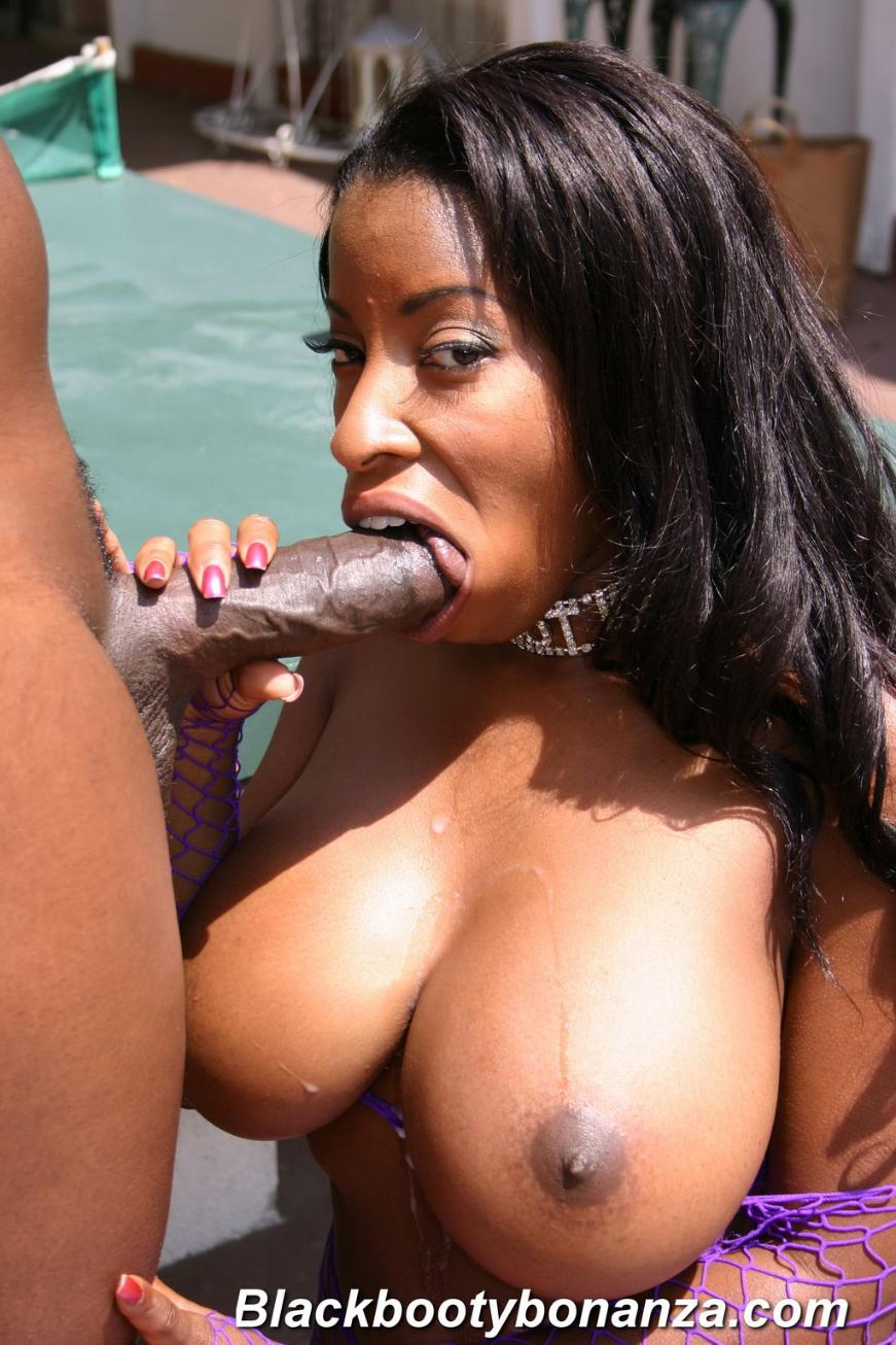 big black tits bouncing everywhere as whore takes chocolate meat