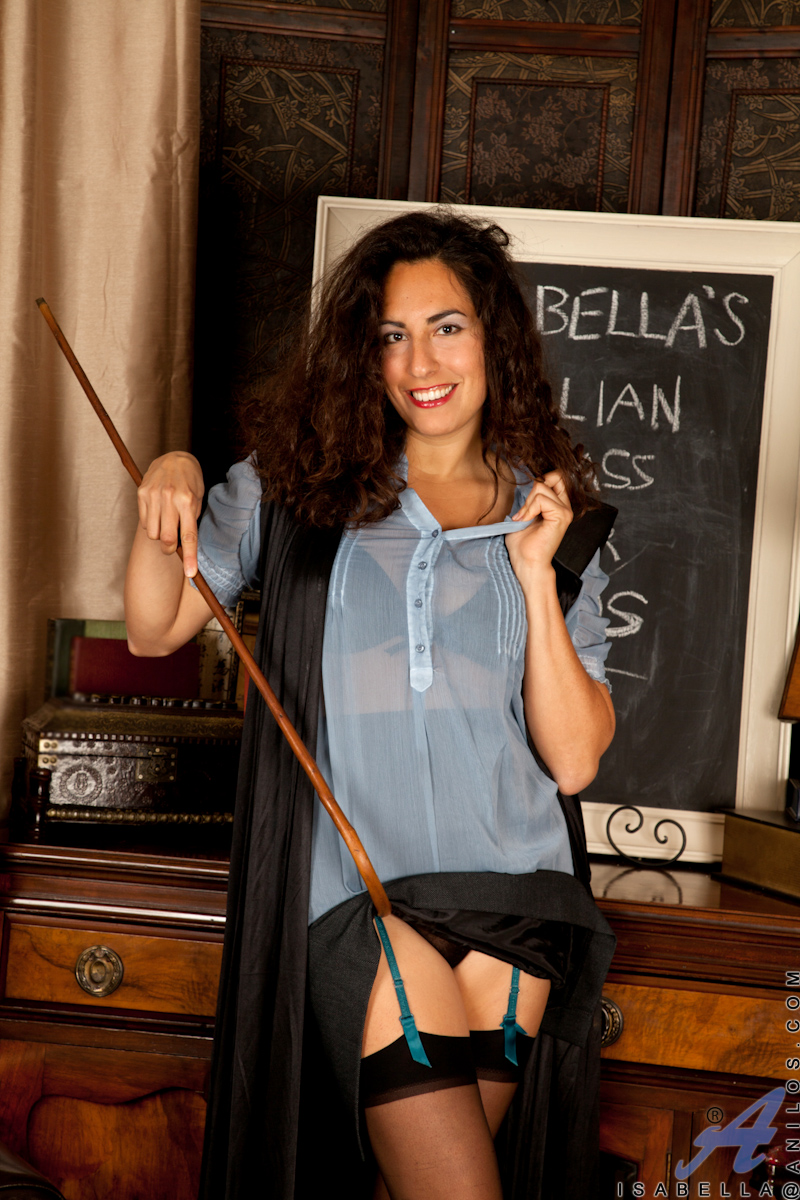 hot teacher isabella shows off her tits and hot mature pussy - sex oasis