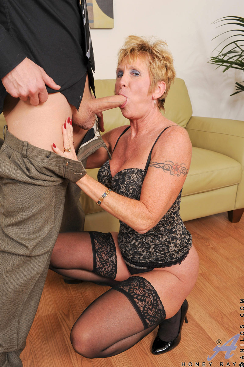 cock hungry anilos grandma wears heels and stockings as she fucks