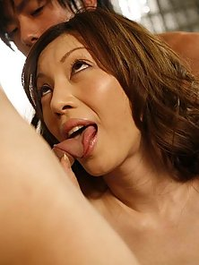 Hot Asian chick Arisa Miura gives head and fuck like crazy