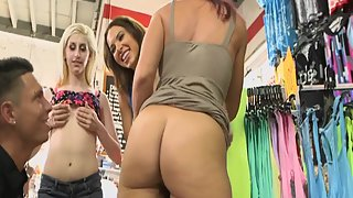 Two Super Sexy Young Brunette Babes Enjoy With Lesbian Trio Sex